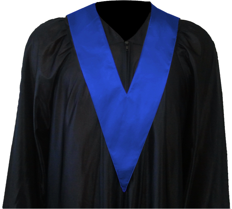 Graduation Gown + Student-Tie in colour blue