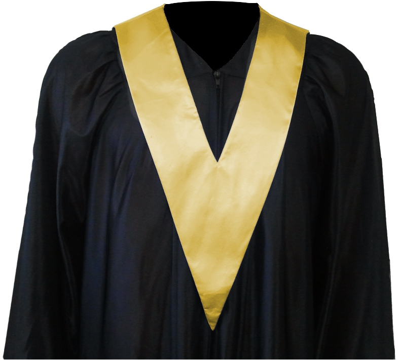 Graduation Gown and Student-Tie in colour gold
