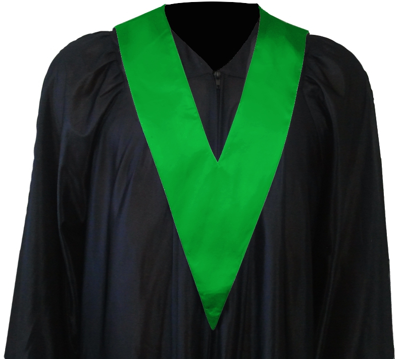 Graduation Gown with Student-Tie in colour green
