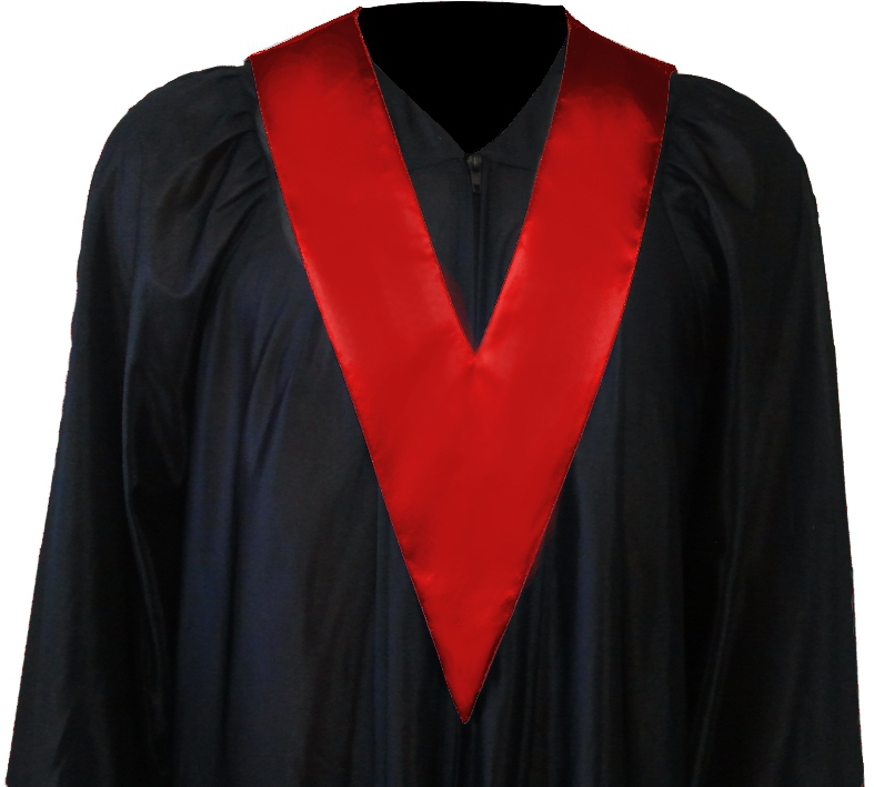 Graduation Gown + Student-Tie in colour red